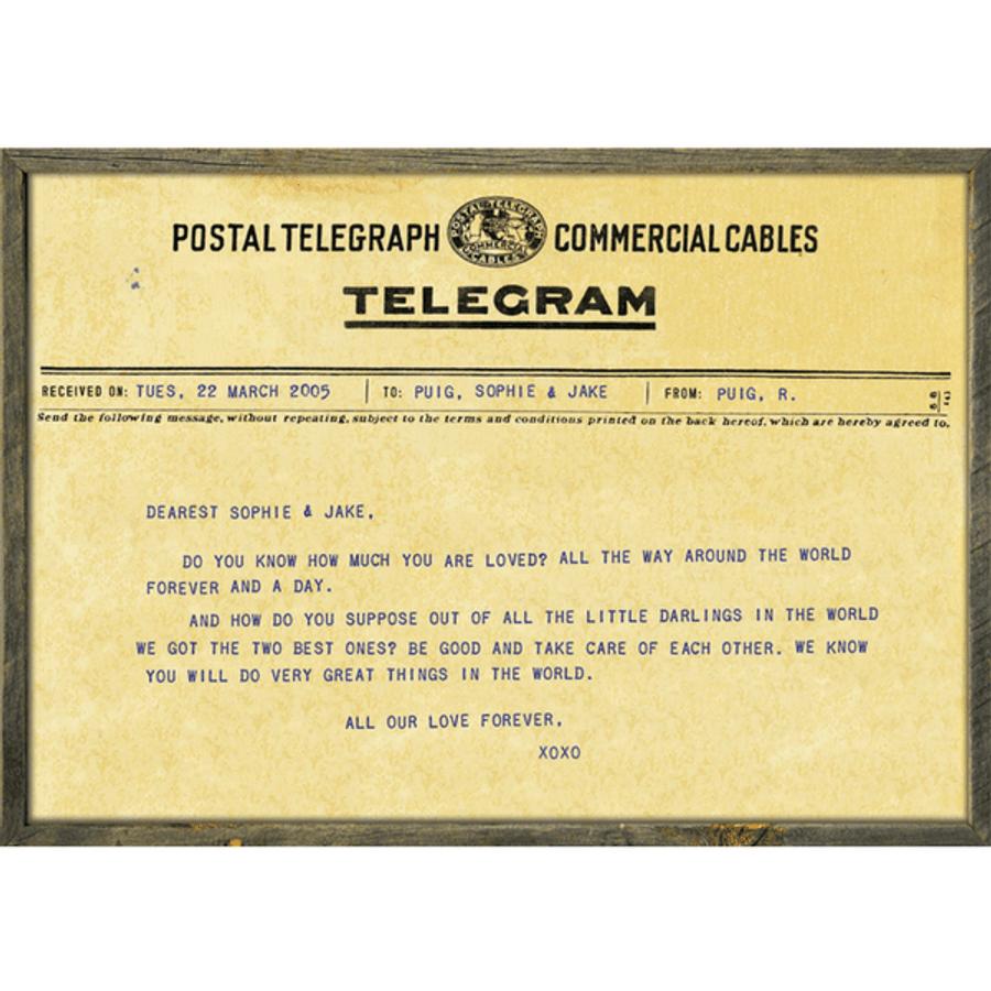 Custom Telegram Art Print