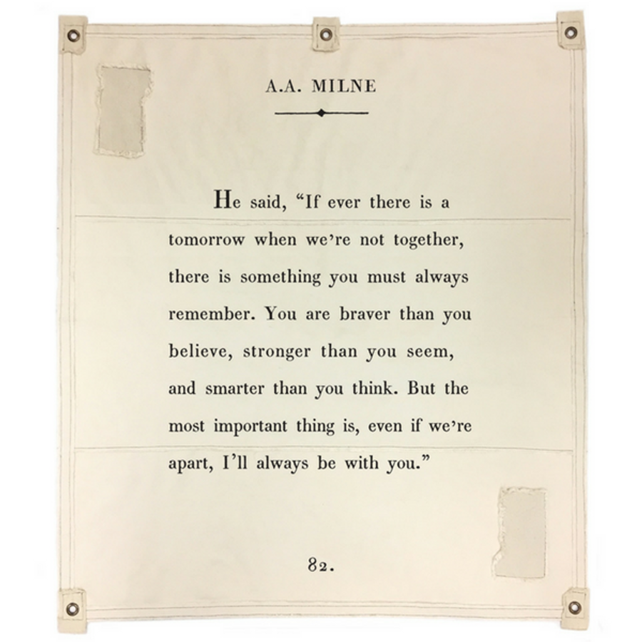 a.a. milne canvas wall tarp