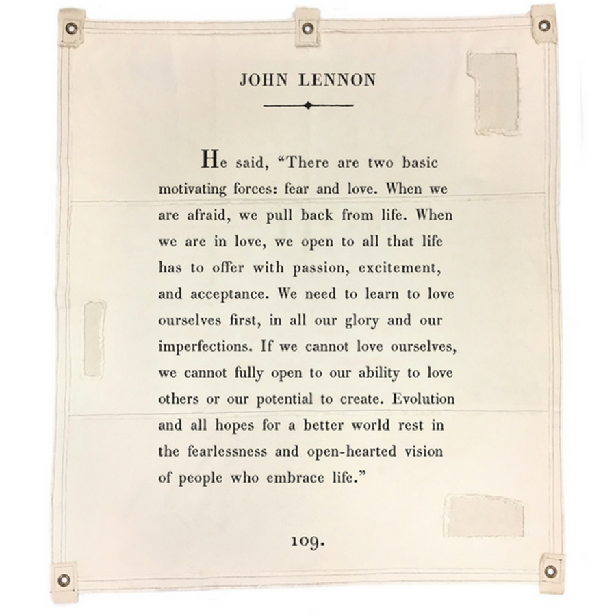 john lennon canvas wall tarp