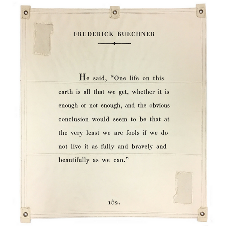 Frederick Buechner canvas wall tarp