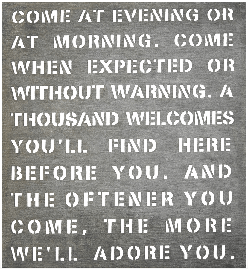 Come at Evening - Metal Sign