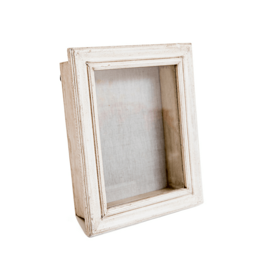 wood and glass shadow box