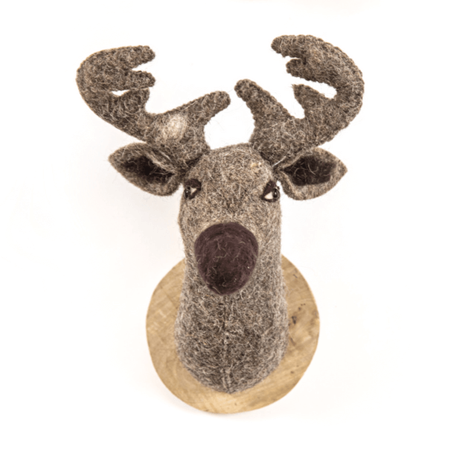 reindeer felt trophy head