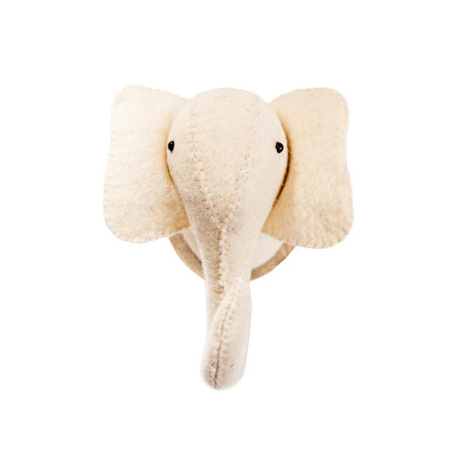 elephant felt trophy head