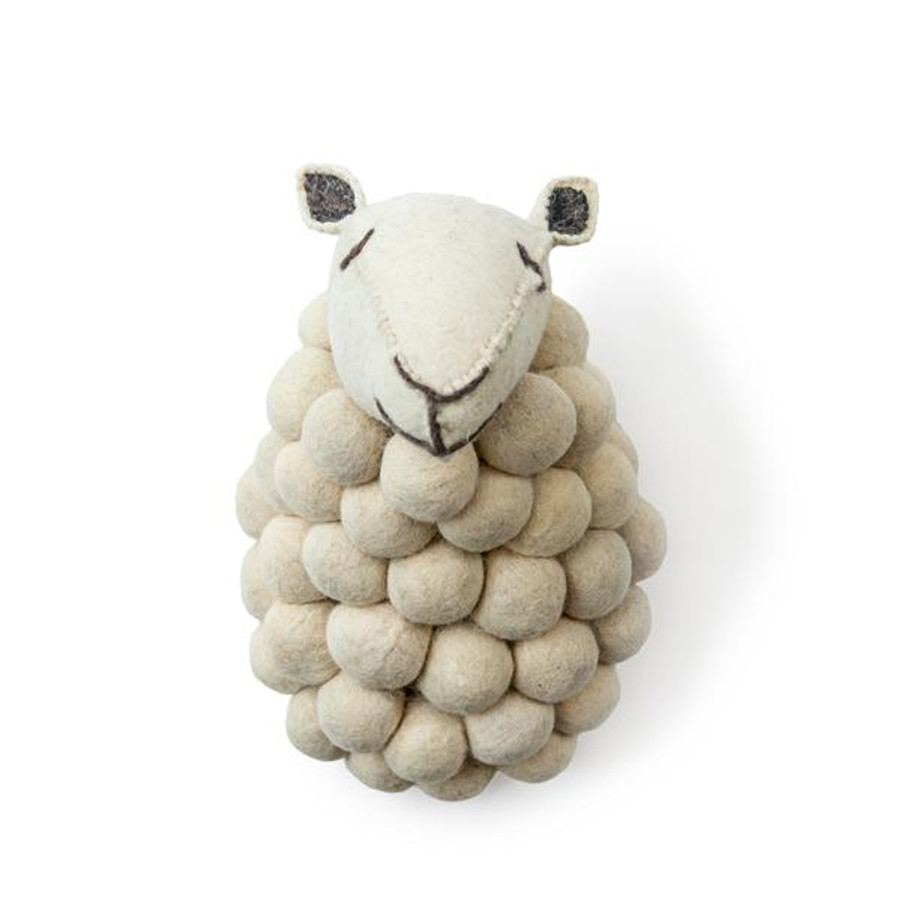 sheep felt trophy head