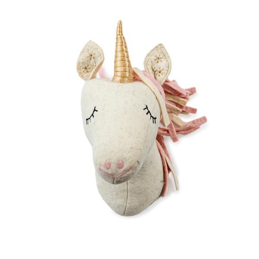 Felt Animal Trophy Head - Unicorn