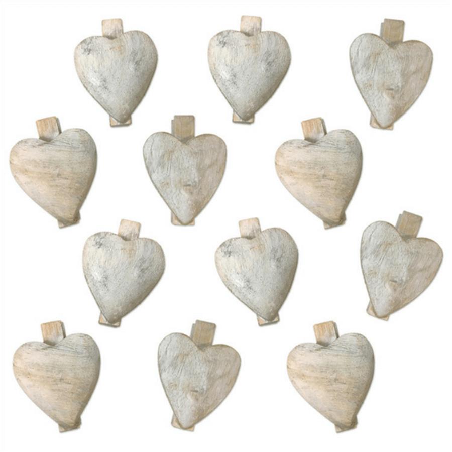 Wooden Heart Clip