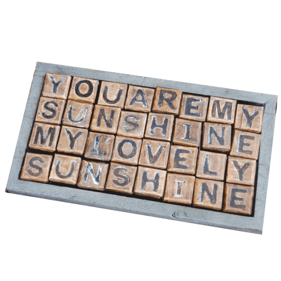 you are my sunshine wood blocks