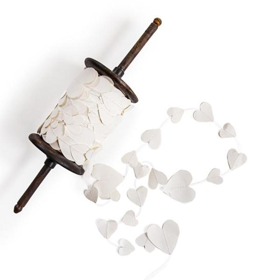 white heart paper garland
