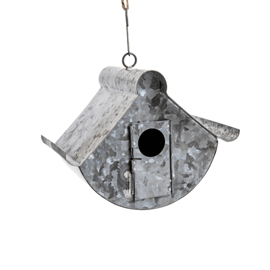 galvanized metal birdhouse