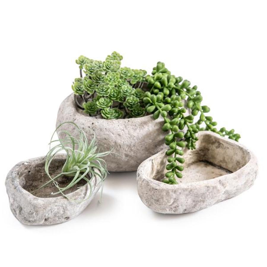 stone cement pot