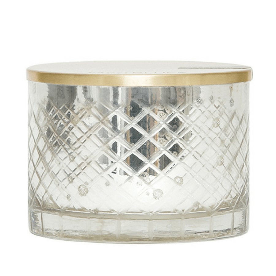 mercury glass round candle
