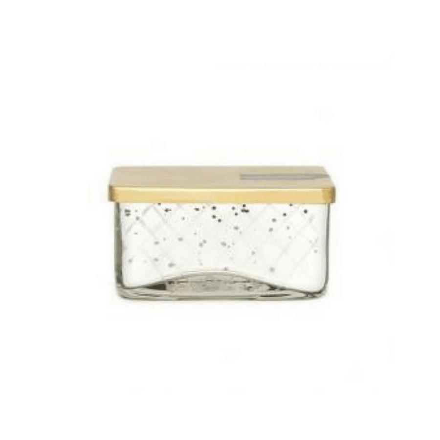mercury glass candle - jewel box