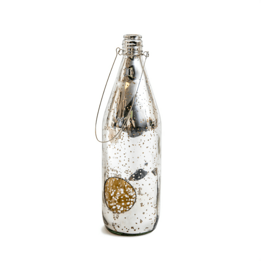 Mercury tea light holder in antique silver