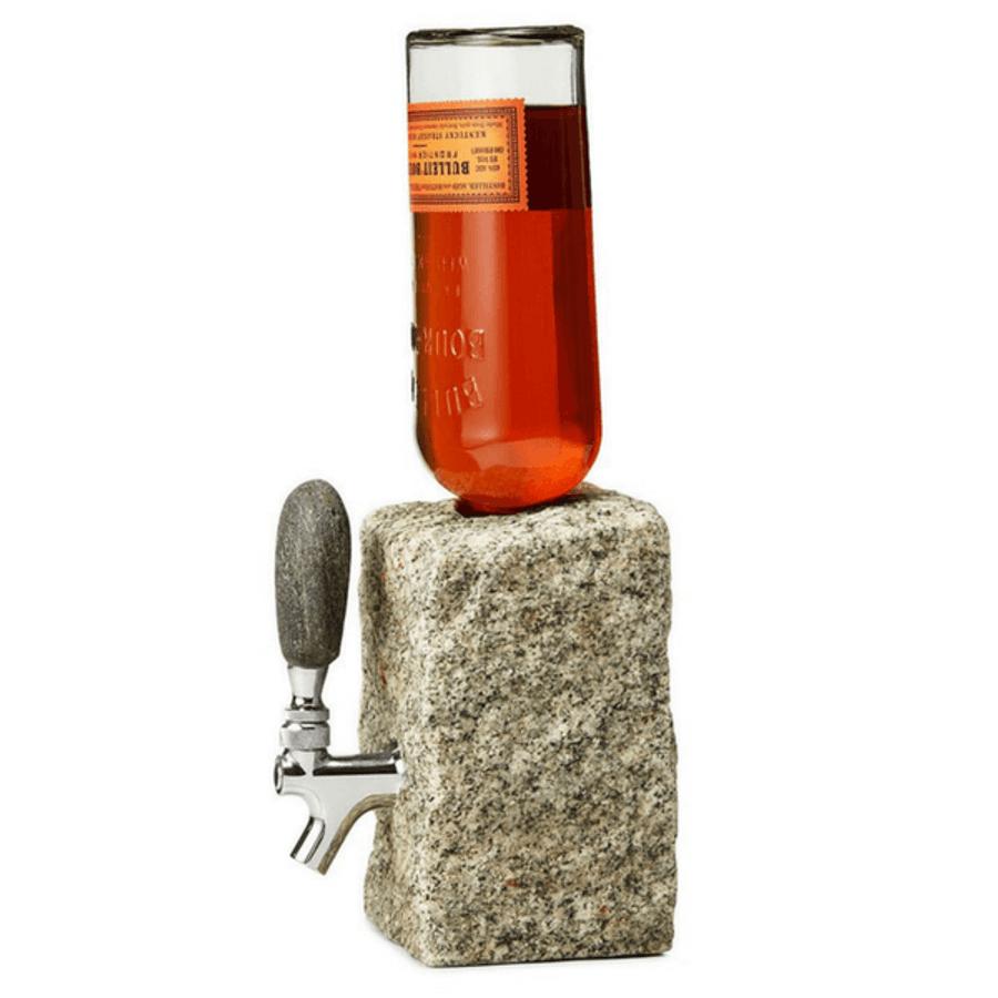 grey stone funky rock bottle dispenser