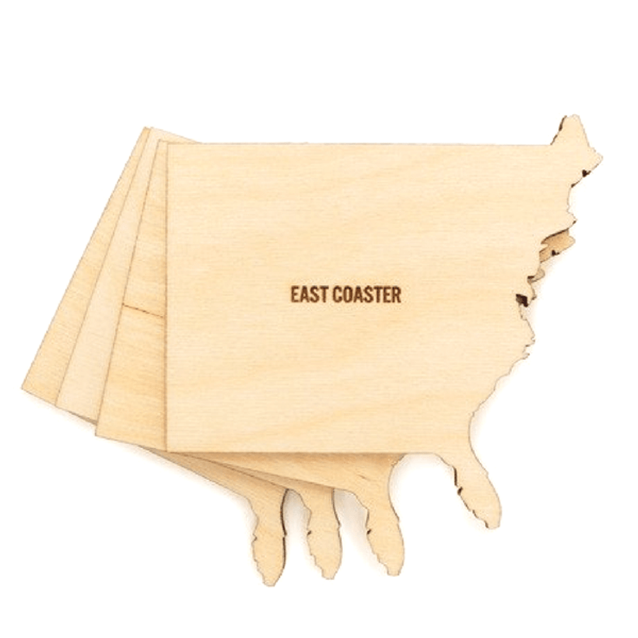 Wooden Geographical Coasters