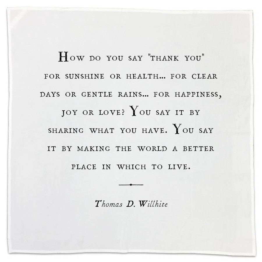 gratitude cotton napkin