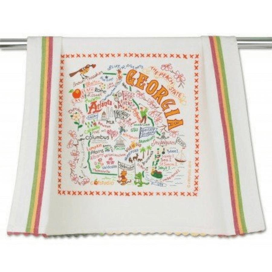 state of Georgia dish towel