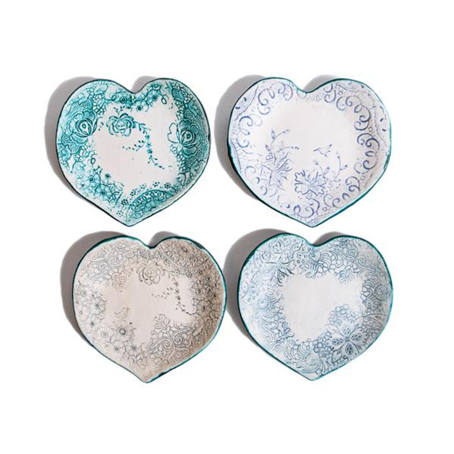 heirloom lace handmade ceramic heart dish