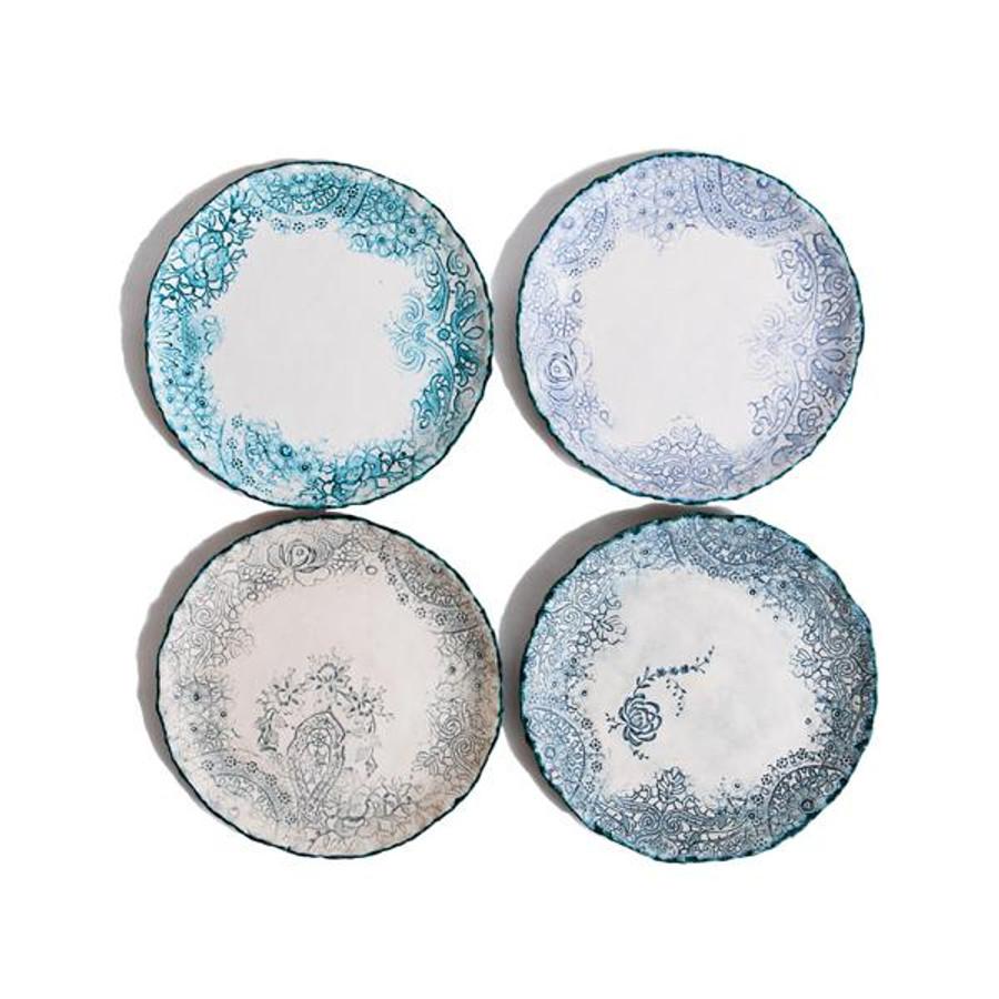 heirloom lace handmade ceramic plate