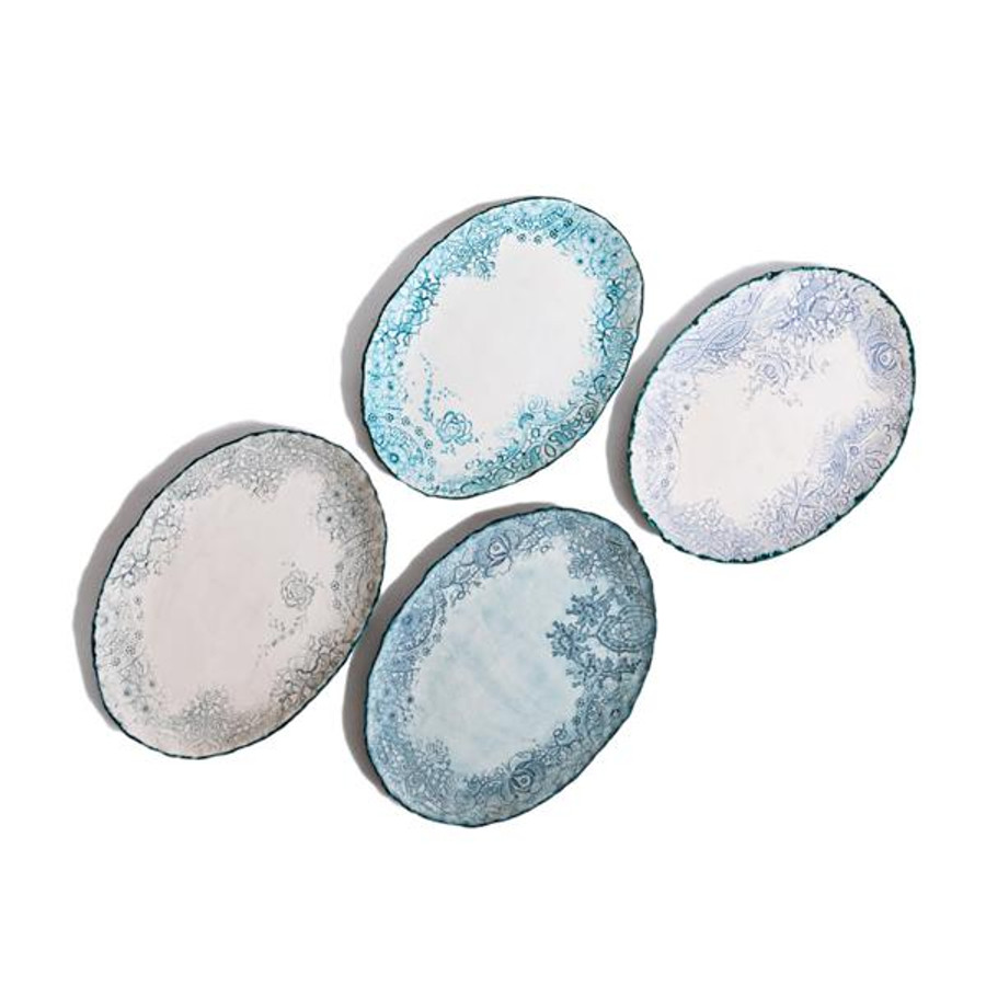 heirloom lace handmade ceramic platter