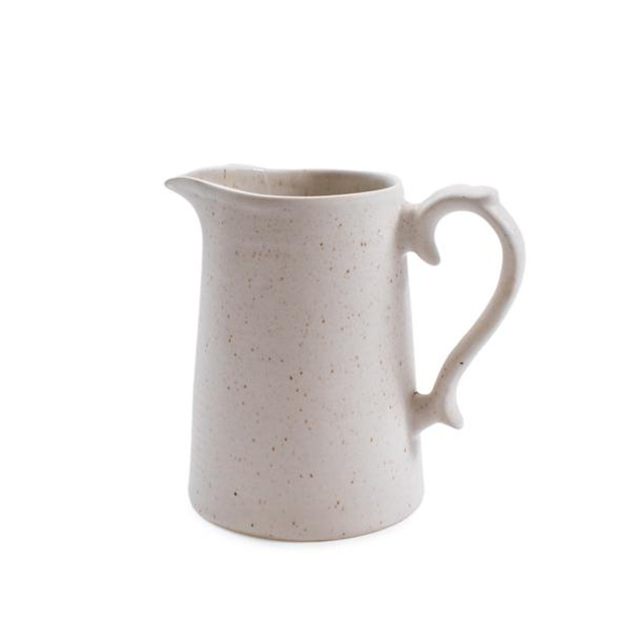 ribbed speckled ceramic pitcher