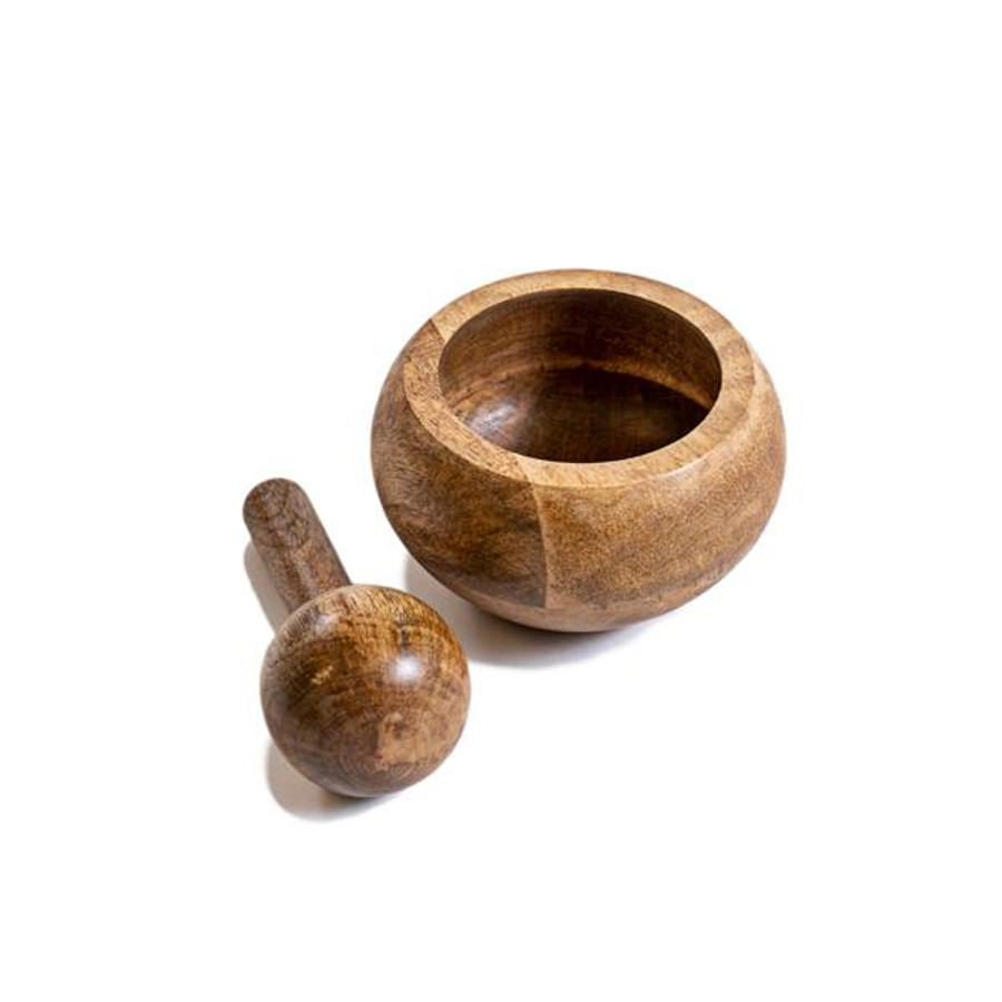 mango wood mortar and pestle