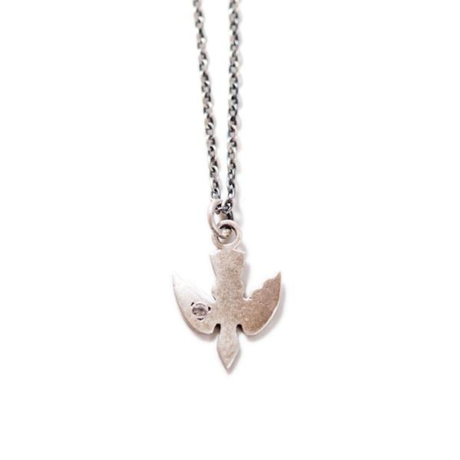 sterling silver necklace with a bird pendant