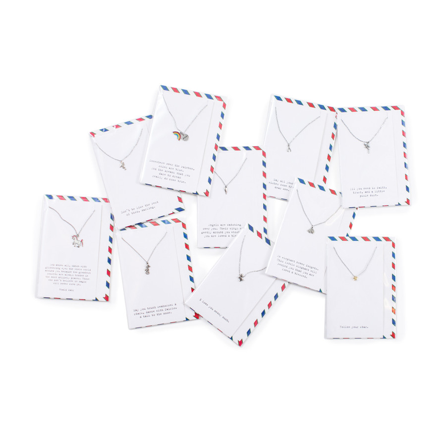 air mail children's collection necklaces
