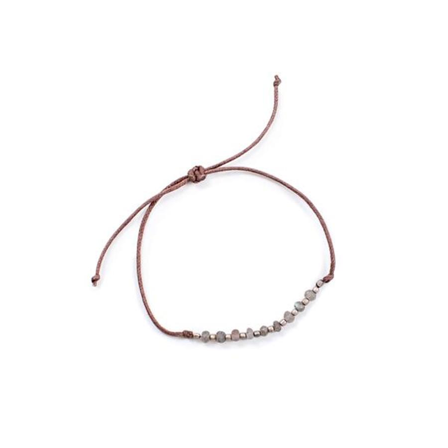 Labradorite Beaded Pull Bracelet