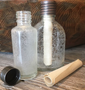close up of the two different shapes of vials