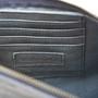 navy leather zip clutch inside card holder