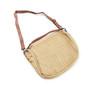 mocha leather shoulder bag