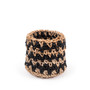 Knitted Black Jute Basket- small