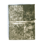 leather silver foiled wrap journal