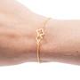 Brass Clover Bracelet
