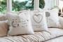 group shot of pillows