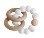 Beechwood Teether Ring Set - Milky White