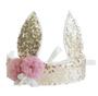Sequin Bunny Crown - Gold