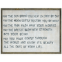 apache blessing art print with greywood frame