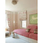 Girl Dog art print hanging above a bed
