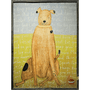 Brown Boy Dog art print with greywood frame