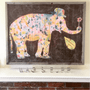"""""""Unabashedly Yours"""" is a whimsical elephant art print by Sugarboo & Co's own Rebecca Puig."""