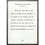 Frederick Buechner art print - white with grey wood frame