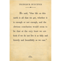 Frederick Buechner art print - cream with gallery wrap frame