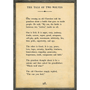 the tale of two wolves art print - cream with grey wood frame