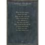 hold fast your dreams art print - charcoal with greywood frame