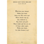 hold fast your dreams art print - cream with gallery wrap