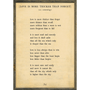 love is more thicker art print - cream with greywood frame