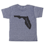 """grey t-shirt with black lettering - state of florida with """"homegrown"""" written in the middle"""